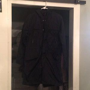Men's long gap rain coat